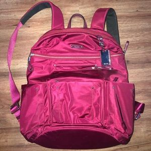 Maroon Tumi Backpack